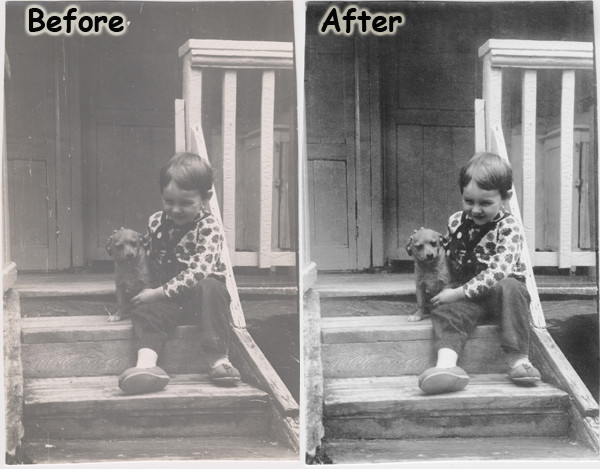Black-and-White photo remastering