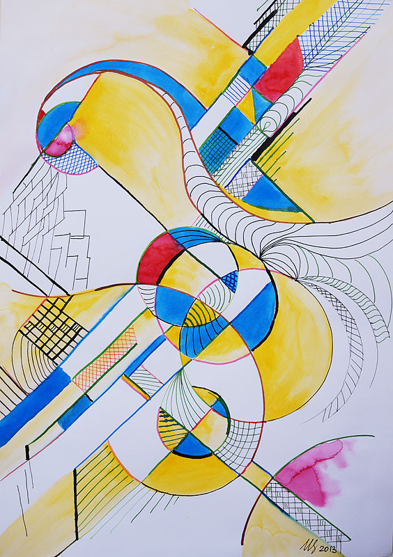 Sold! Transition. 34 x 49 cm. Ink, watercolor. 11-2013. Sold