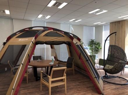 休憩室にテント!!