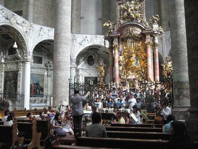 フランチスカーナ教会リハーサル