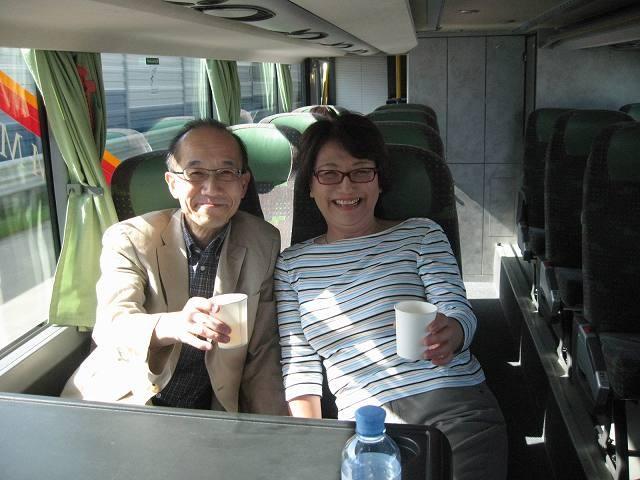 ザルツブルクからウイーンへのバス内で