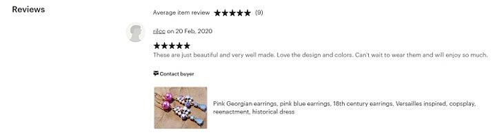 etsy reviews zijn belangrijk voor handgemaakte sieraden