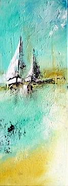 Sommer am Wasser, 80 x 30 cm, Preis auf Anfrage