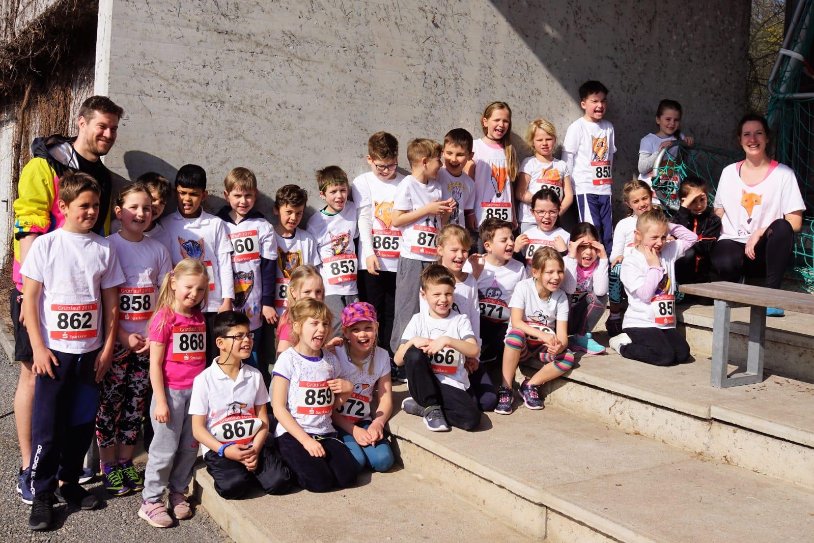 Grüttlauf 24.03.2019 Vor dem Lauf - Klassen 2a und 2b