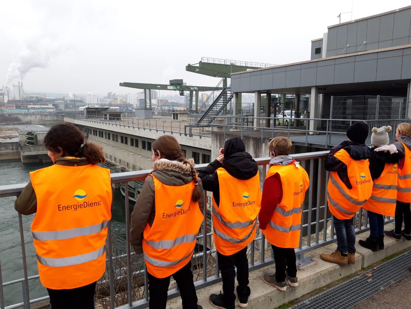 Die Klasse 4a im Wasserkraftwerk Rheinfelden (21.01.2019)