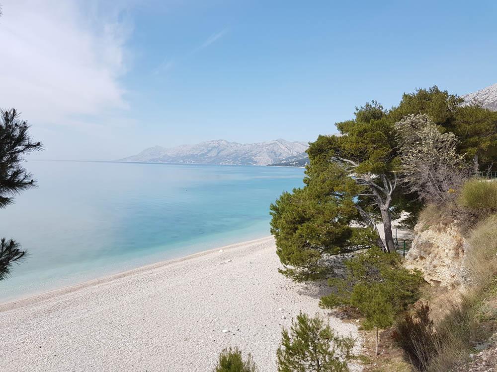 Baska Voda, lange Strände anm blauen Meer