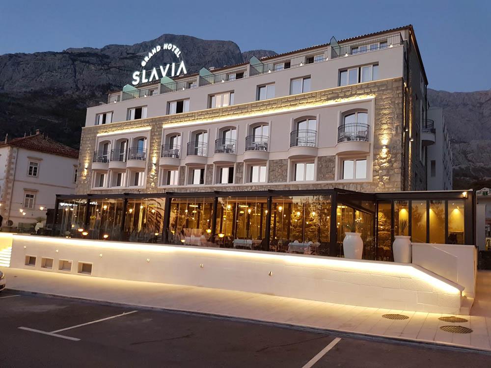Baska Voda, Grand Hotel Slavia mit Restaurant Del Posto