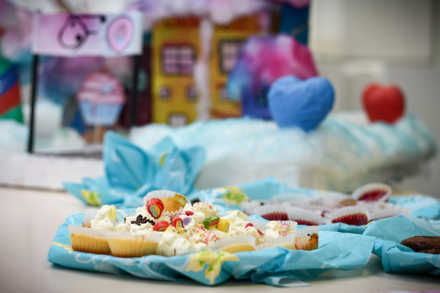 Die Schüler eines Wirtschaftsprojektes haben mit viel Sorgfalt eine eigene Marke (Candy Factory) entworfen, unter der zum Tag der offenen Tür Süßes angeboten wurde.