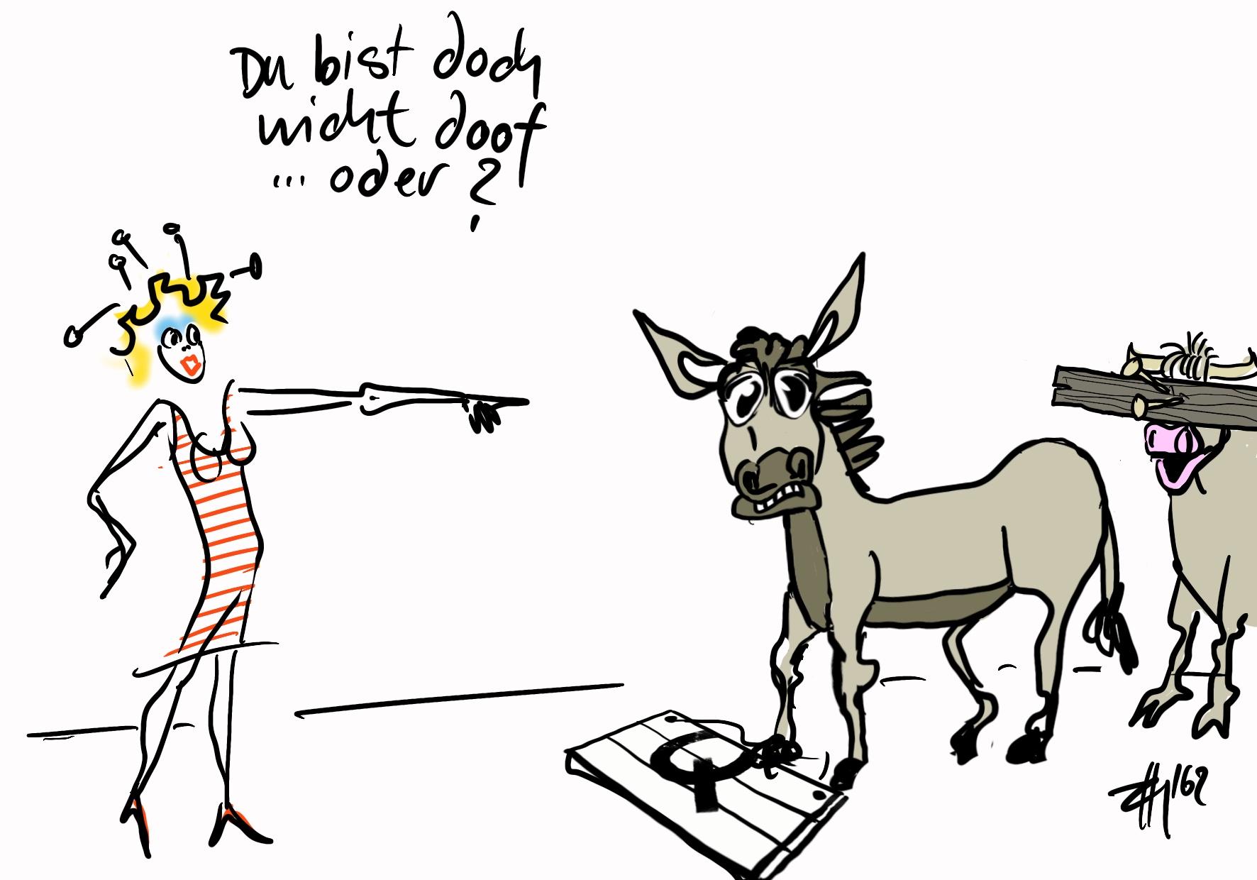 Der Kuckuck und ein Esel