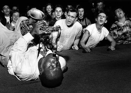 Big Jay McNeely at the Olympic Auditorium in Los Angeles in 1951, by Bob Willoughby