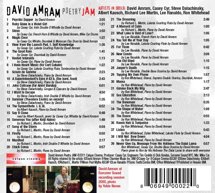 David Amram Poetry JAM CD 2
