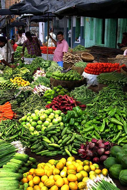 Markt in Assam, Indien (Foto Steve Evans)