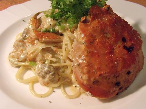越前がにのスパゲッティ~クリームソース~ セイコ蟹をつかって 季節限定