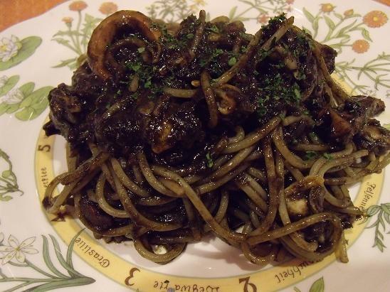 イカスミソース スパゲティ