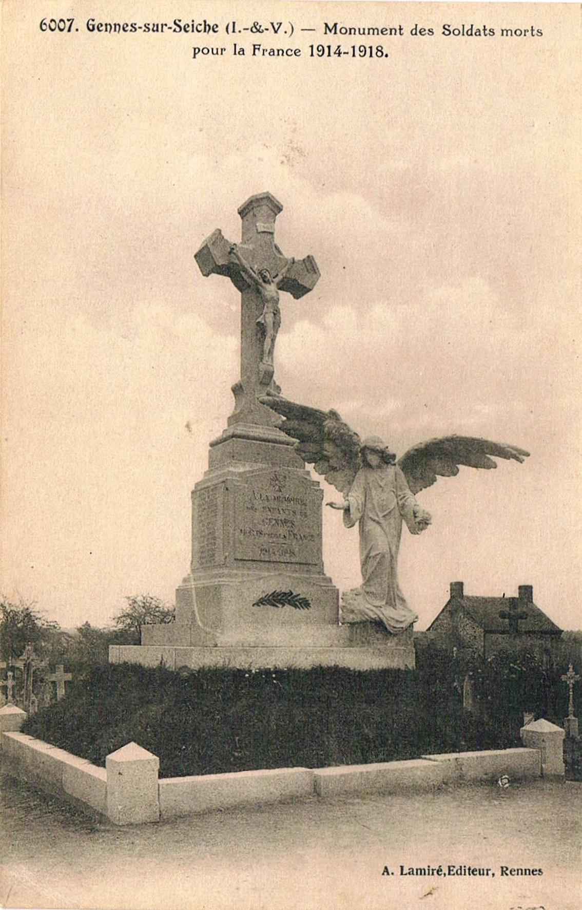 Gennes-sur-Seiche le Monument aux Morts