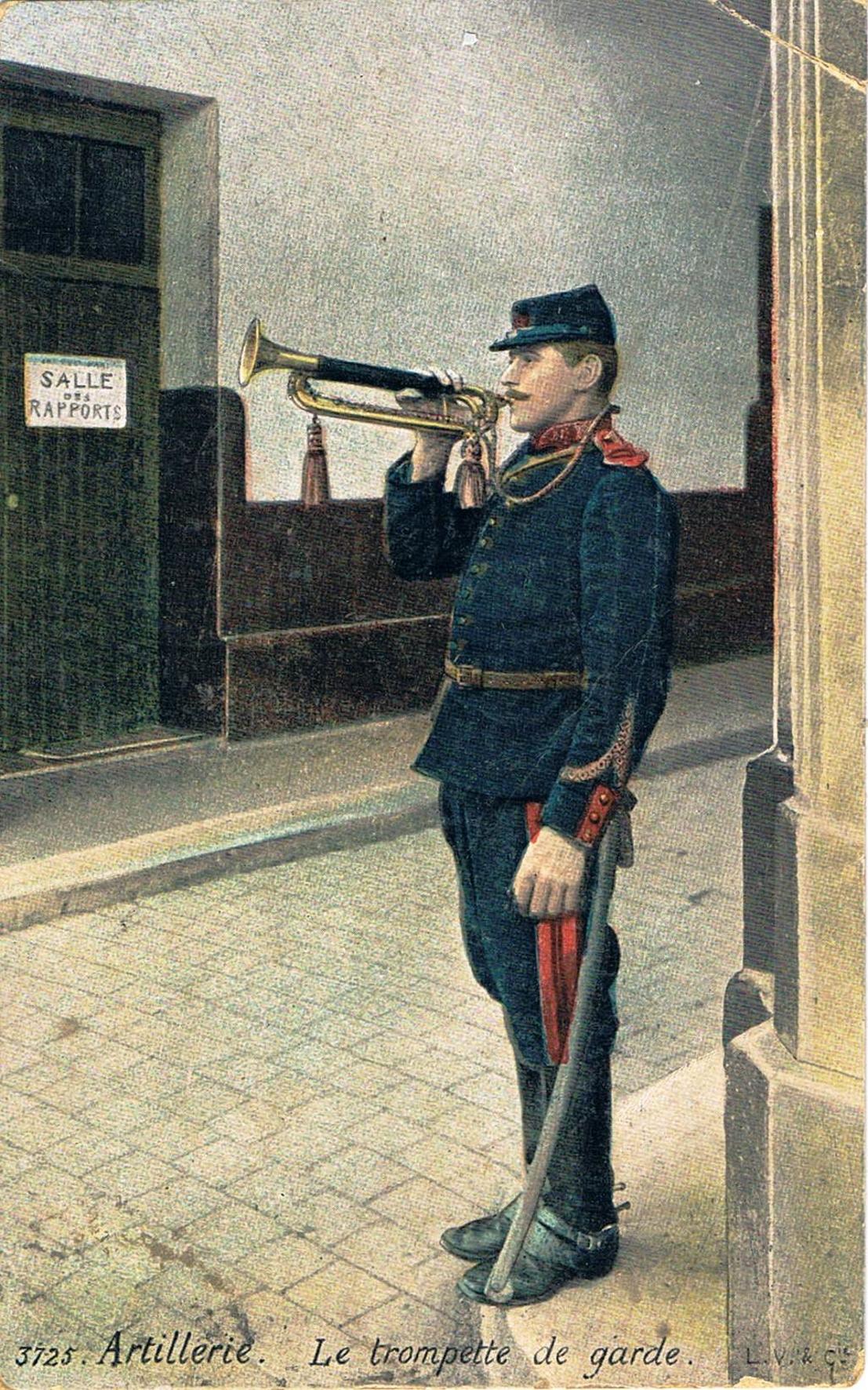 Artillerie trompette de garde
