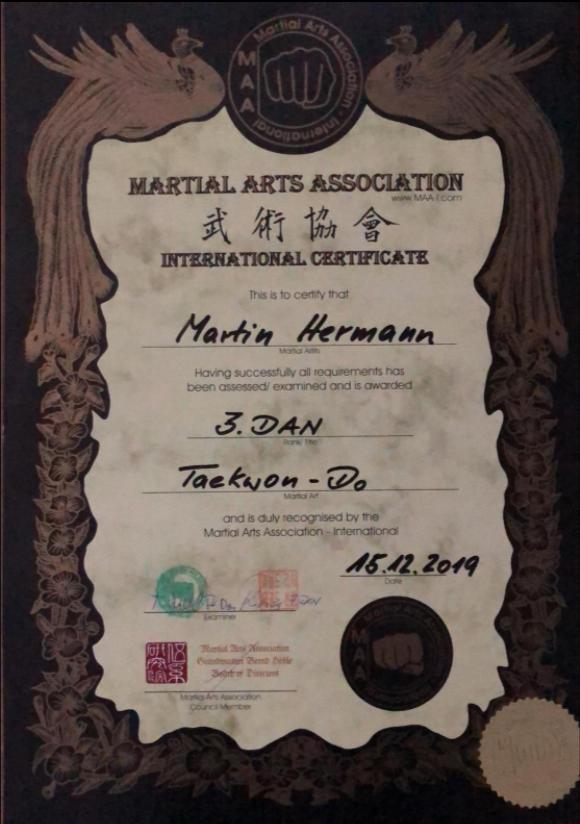 Diplom Taekwon-Do