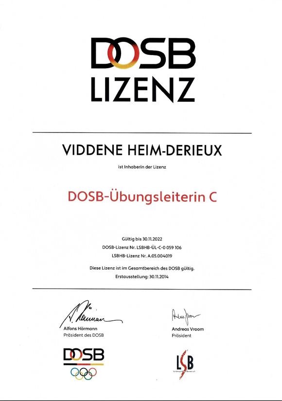 DOSB Lizenz