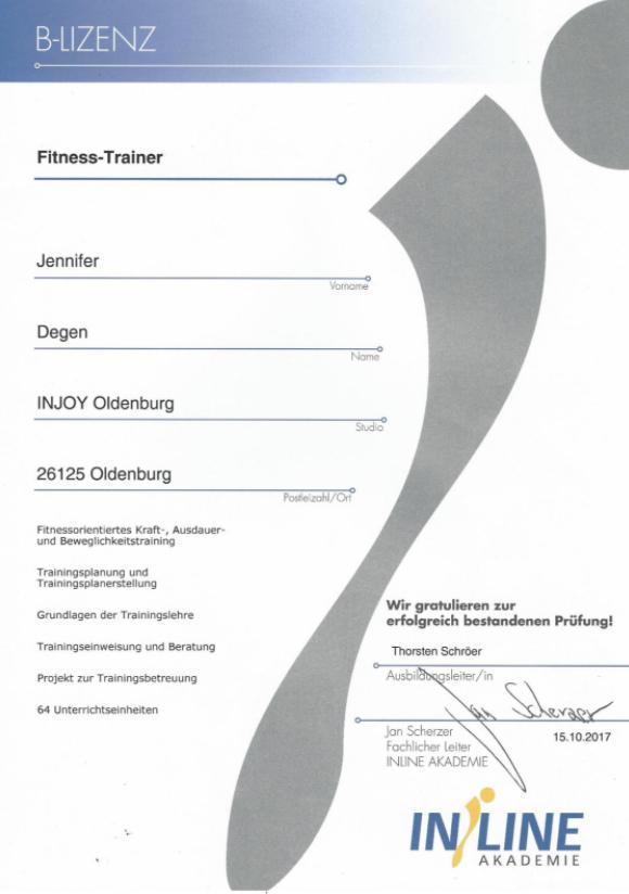 B-Lizenz Diplom
