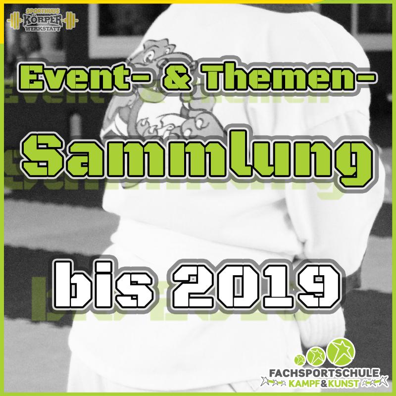 Event- & Themensammlung bis 2019