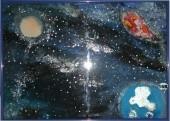 Universum >Hinterglasmalerei Best. Nr. 16A