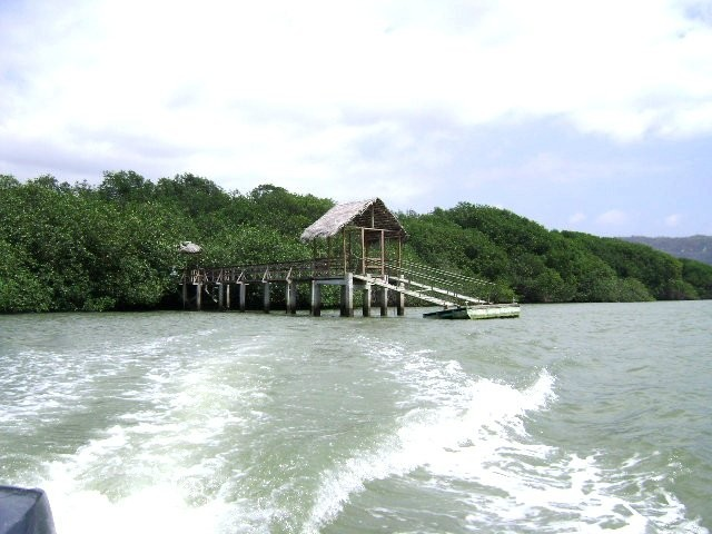 Muelle en la Isla Corazón del cantón Sucre, Bahía de Caráquez.