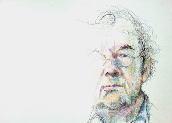 Hellmuth Karasek - aquarellstifte auf papier