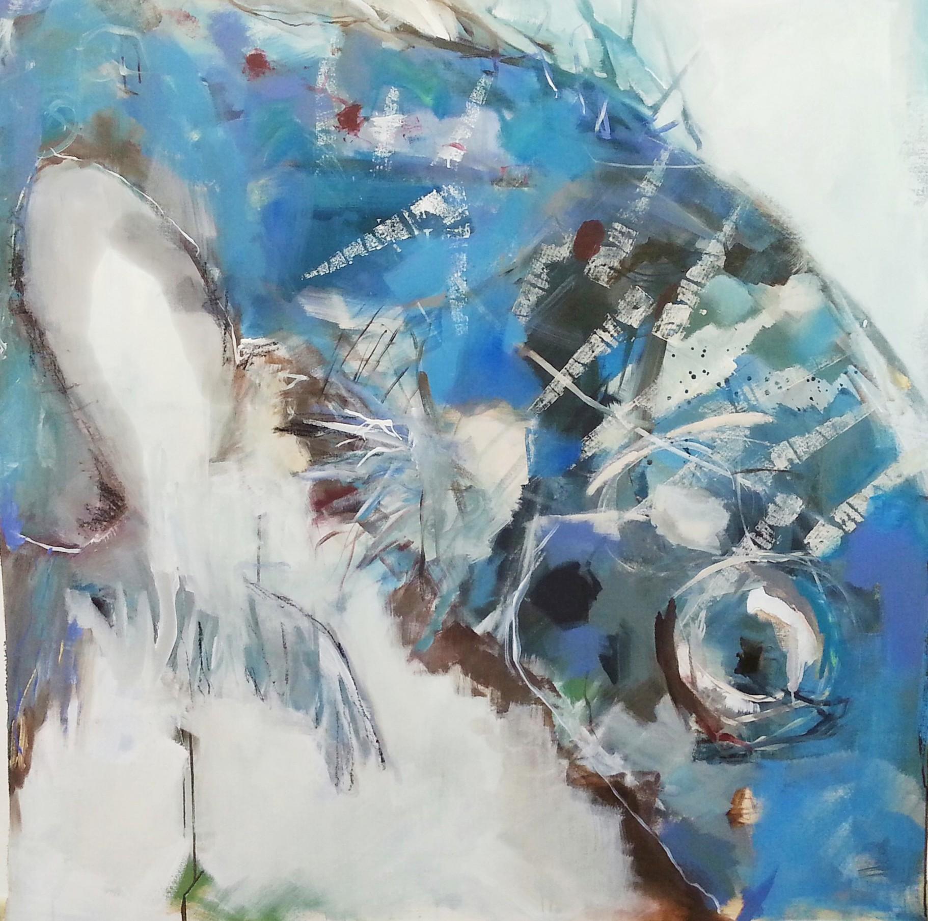 requiem für einen fisch - 2015 - acryl auf leinwand - 150x150