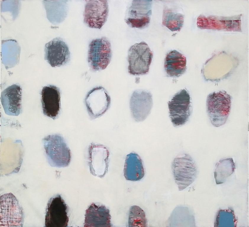 "n° 1611 ""fingerprints"" - acryl/ ölkreide auf leinwand - 150x150"