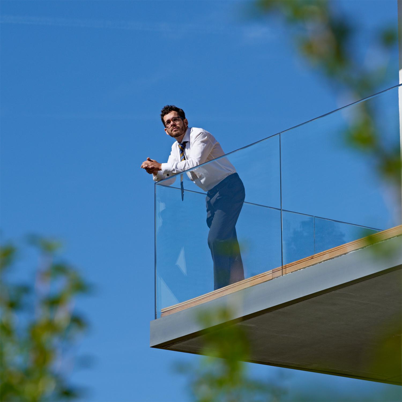 Geländer aus Ganzglas