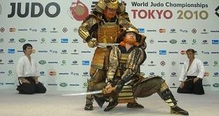 世界柔道選手権大会での竹内流特別演武