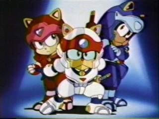 Los Gatos Samurai Dibujos animados