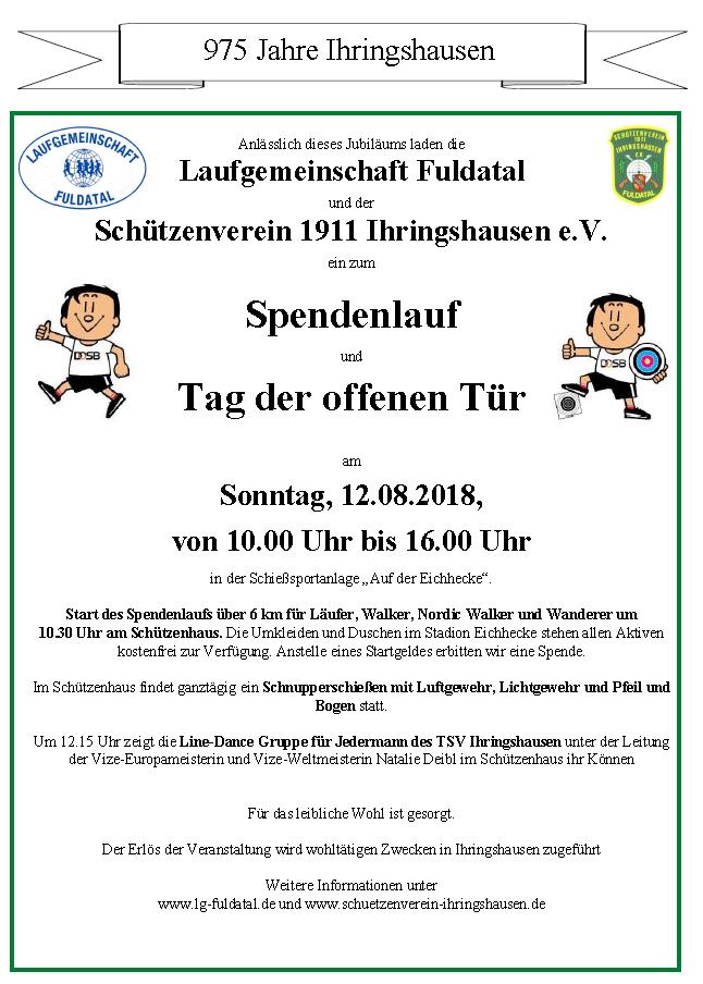 Spendenlauf und Tag der offenen Tür - 12.08.2018