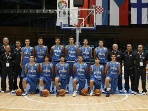 La formazione Under18 della Nazionale Italiana (foto tratta dal sito FIP)