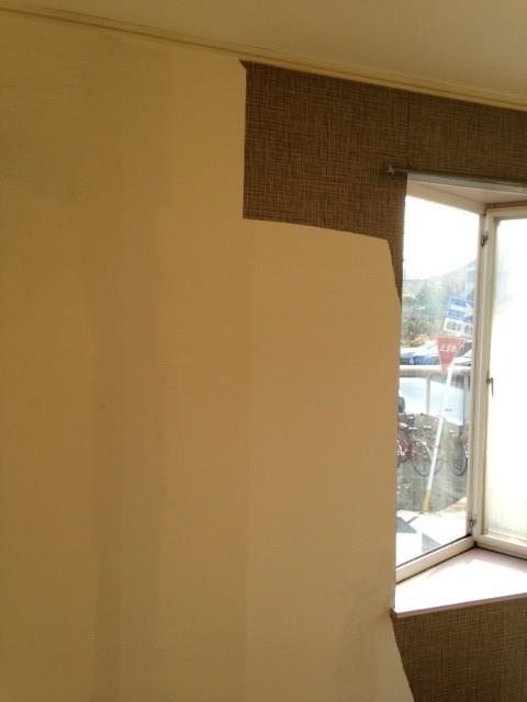 壁面改修前の壁です。まずは、どの部分か確認します。