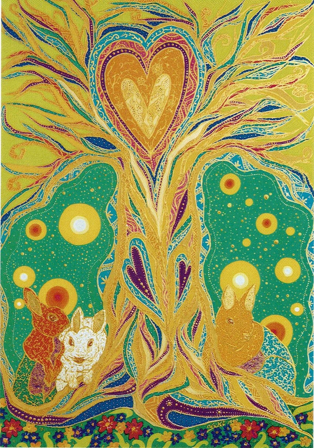 ⑧ Mother Tree 裏に日本語詩入り Japanese Poem on Back side