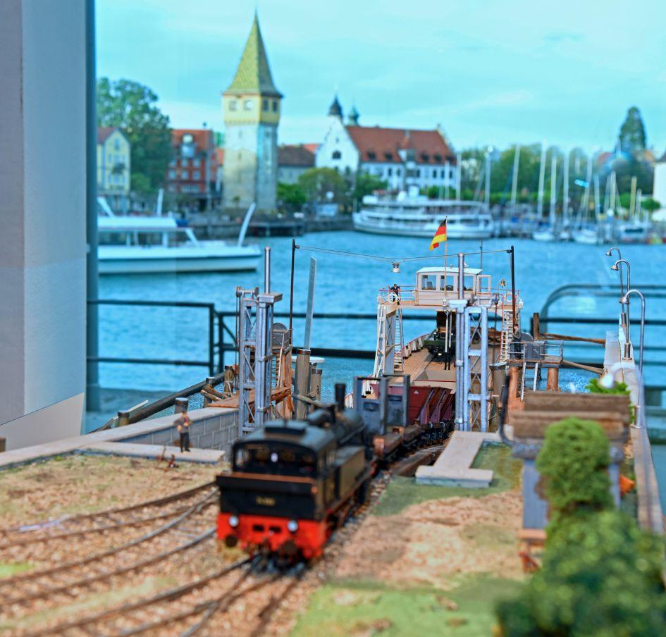 Modell Trajektanlage Lindau von Reiner Fügen; Foto Susi Donner