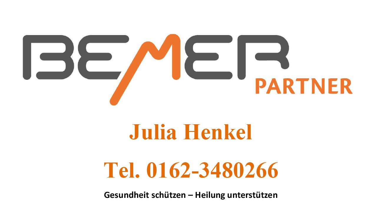 Bemer Partnerin,  Julia Henkel