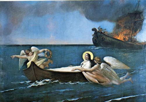 Ischia - Sanctuaire de Sainte-Restitude (F. Mastriani fin XIXè)