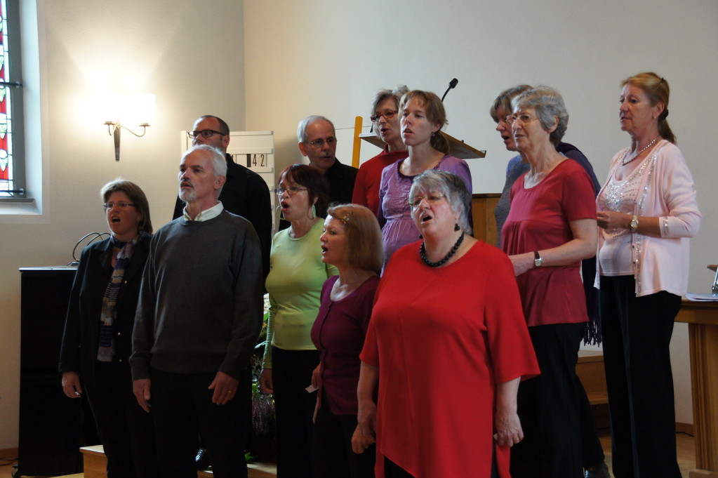 Die Gospelsingers in Aktion
