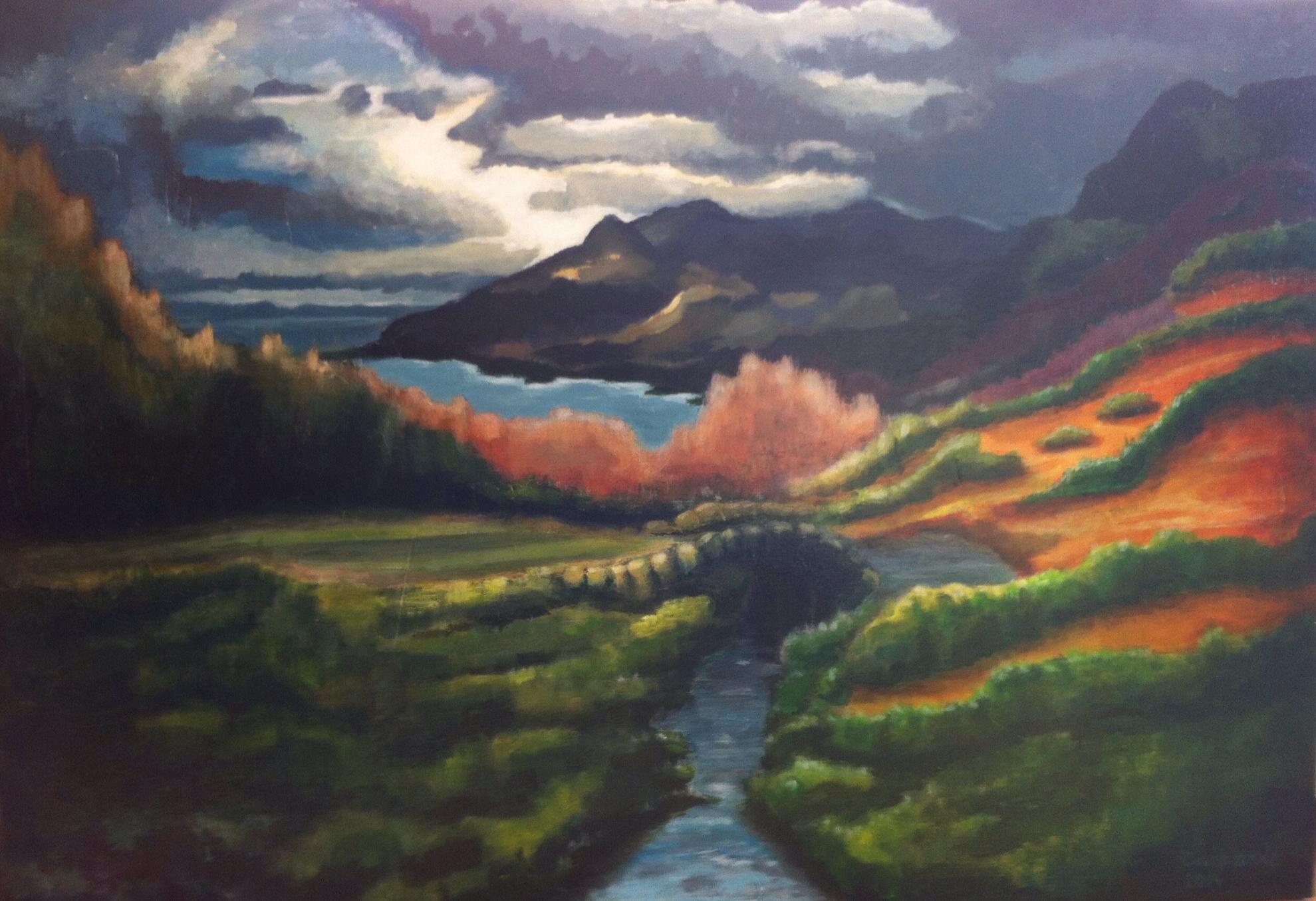 Schotland, acryl op linnen, 60 x 80 cm.