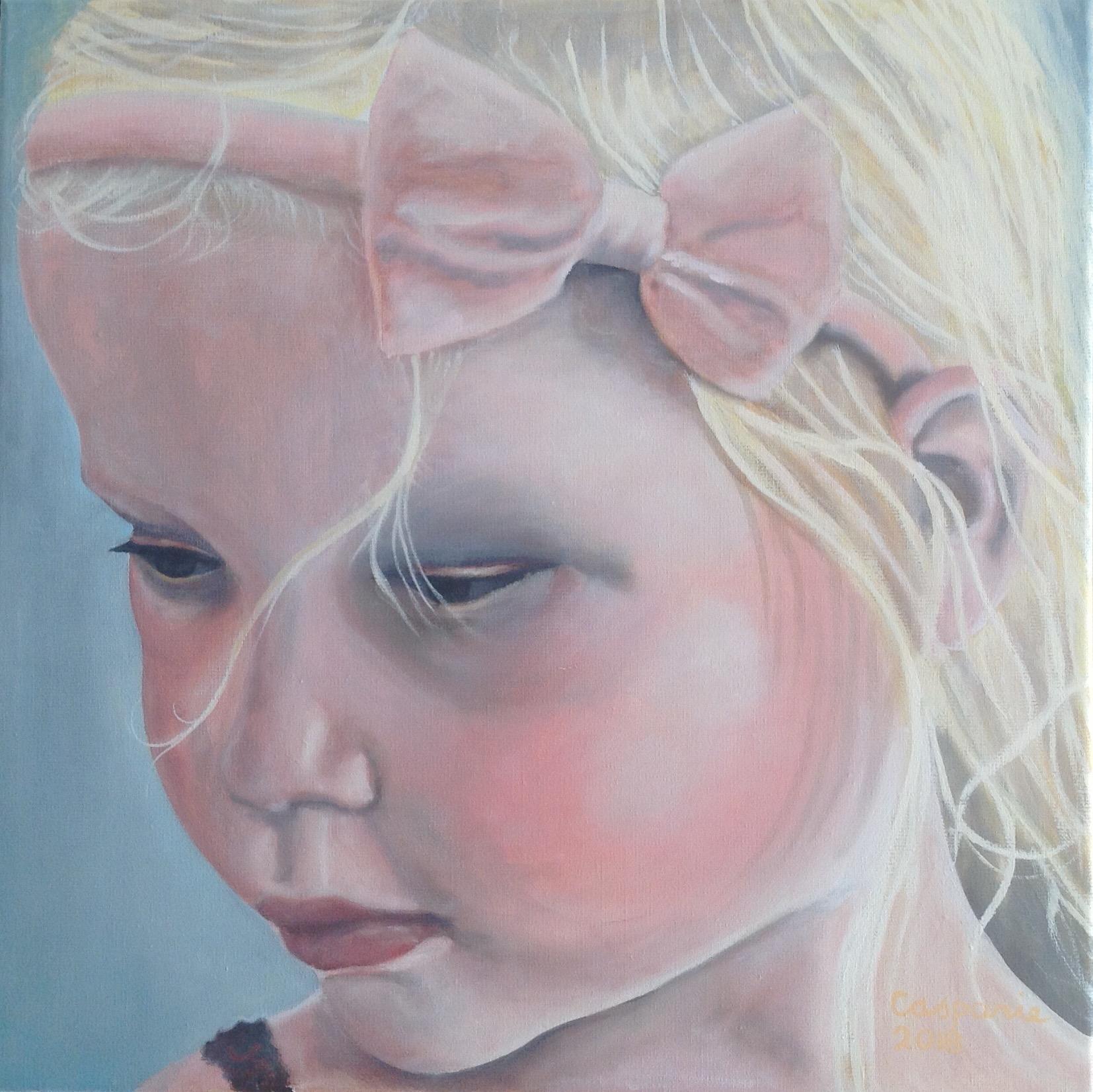 Sophie, olieverf op linnen, 50 x 50 cm.