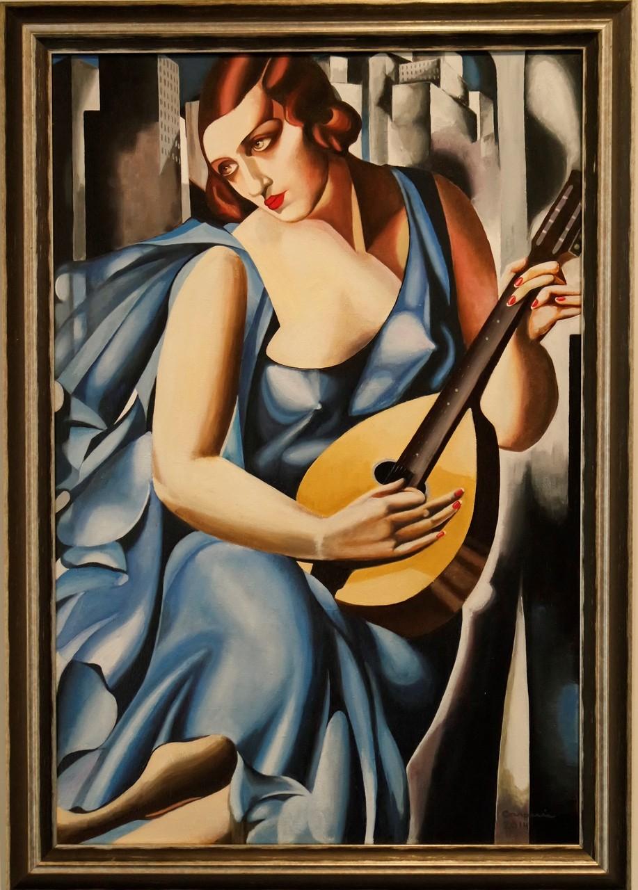 Musician, naar Tamara de Lempicka, 60x90 cm.