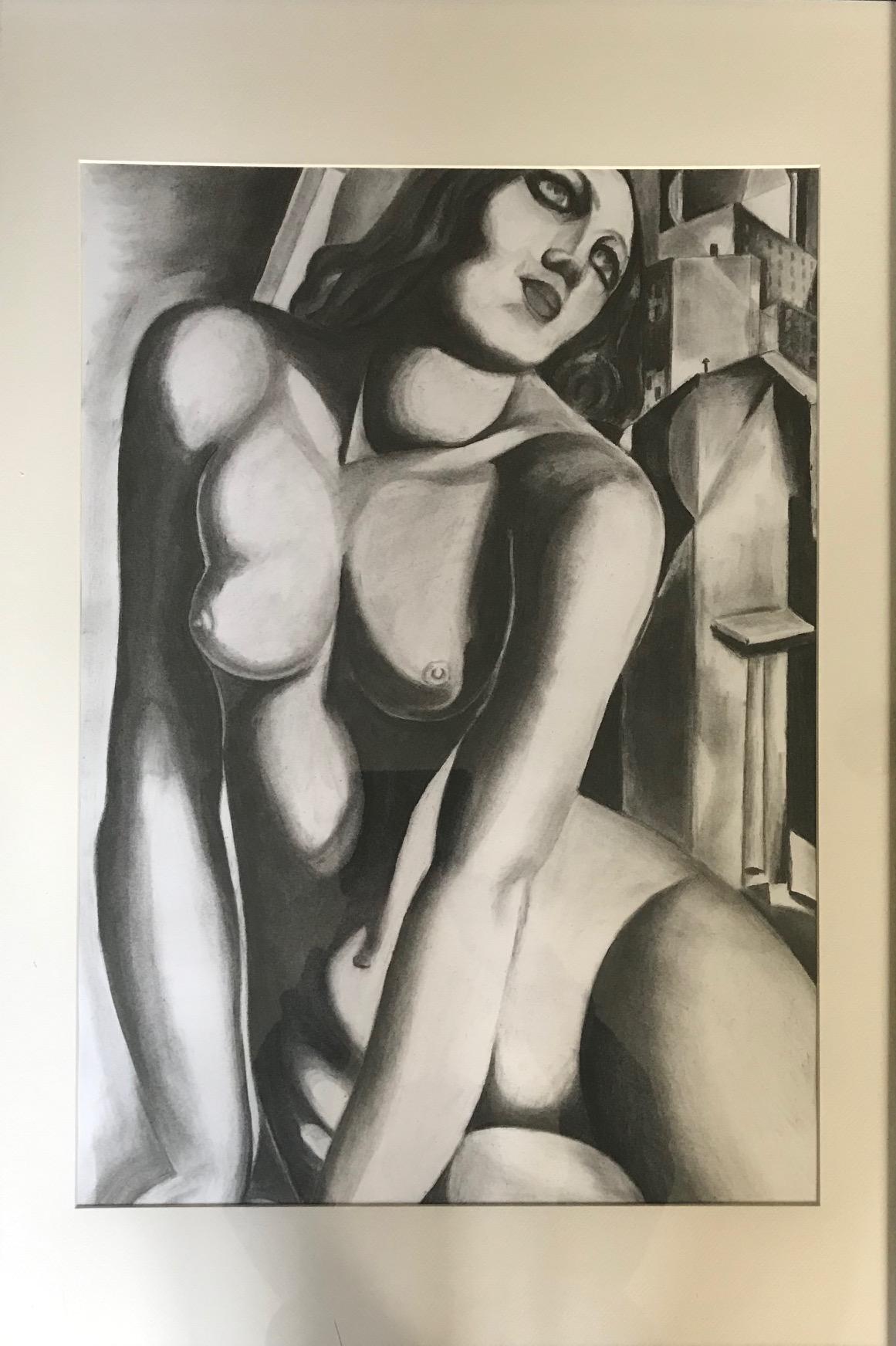 T.de Lempicka, houtskool3