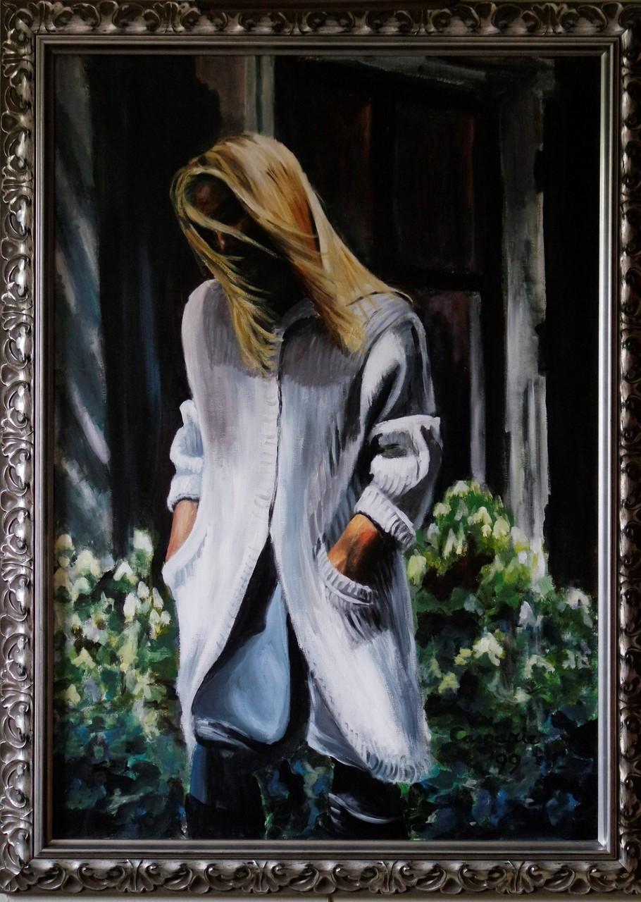 Yvonne, acrylverf op linnen, 60x90 cm.