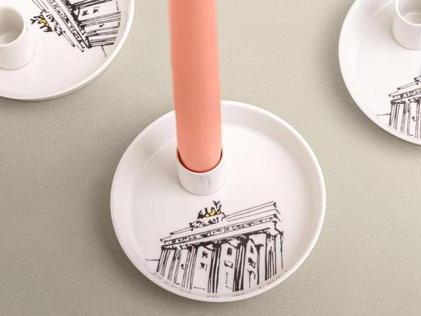 Kerzenhalter Brandenburger Tor Porzellan Souvenir Berlin