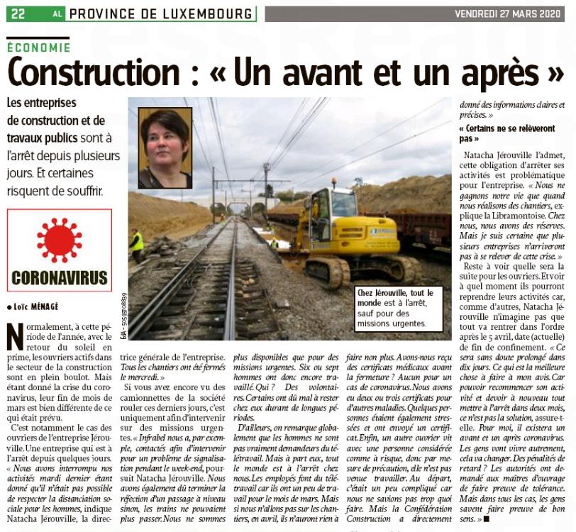 """Article """"Construction : """"Un avant et un après"""""""