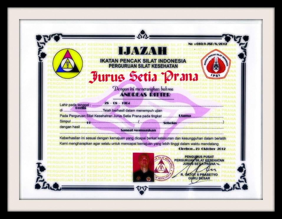 Prüfung in Jurus Setia Prana zum Pendekar Utama