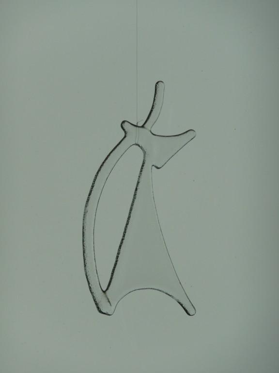 Katze (zirka 8x16cm) Hottackfusing transparent Preis Fr. 15.--