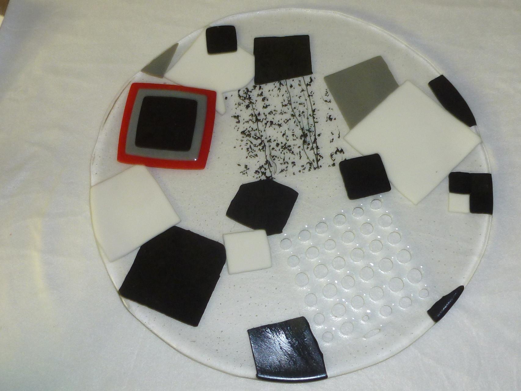 Bullseye-Tektaglas , Farbglas opak, bedampfte Gläser